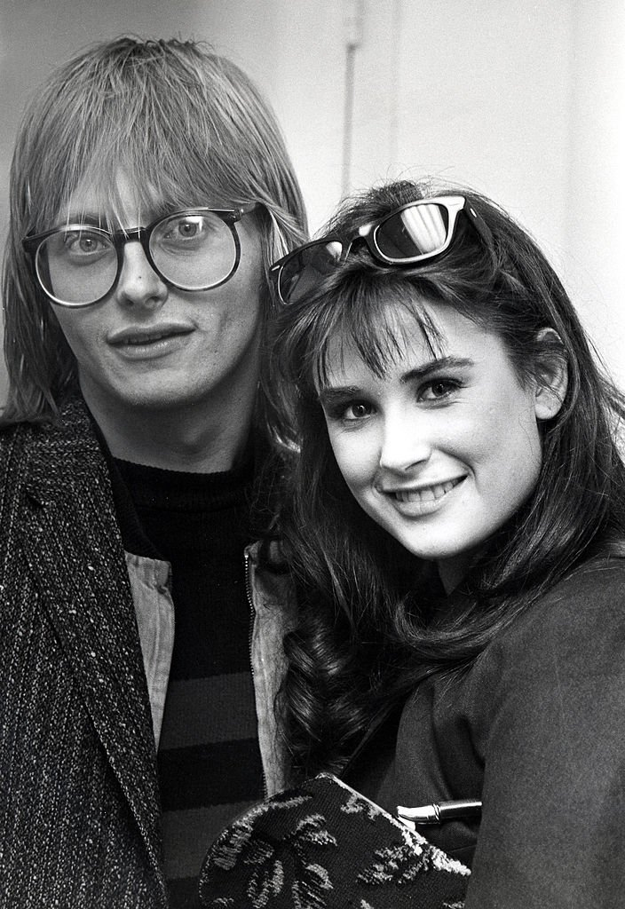 Image Credits: Getty Images / Ron Galella / Ron Galella Collection | Freddy Moore and Demi Moore at the ABC Studios in Los Angeles, California.