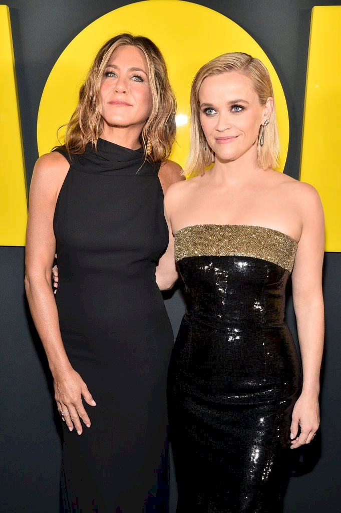Image Credit: Getty Images / The stars of The Morning show, Jennifer Aniston and Reese Witherspoon.