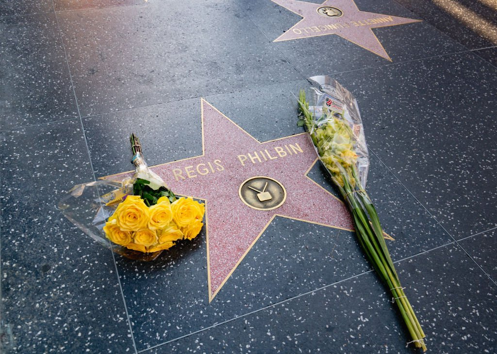 Image Credit: Getty Images / Hollywood honors Regis Philbin's star on the Walk of Fame after the announcement of his death in Los Angeles, California.