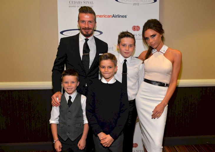 David and Victoria Beckham with their boys Brooklyn, Romeo and Cruz/Photo:Getty Images