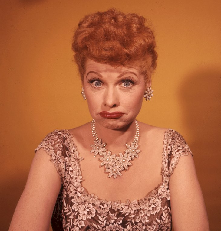 Image Credit: Getty Images / Lucille Ball at a photo shoot.