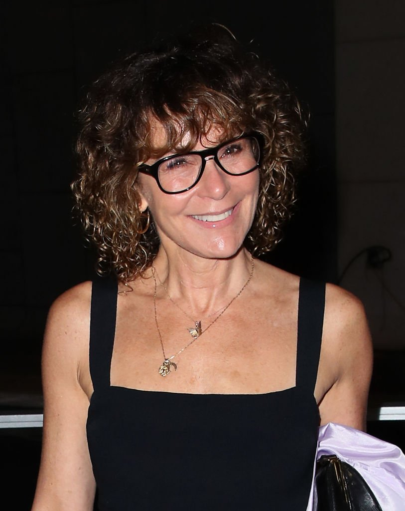 "Image Credits: Getty Images / David Livingston | Jennifer Grey attends the Center Theatre Group's ""A Play Is a Poem"" opening night performance at Mark Taper Forum on September 21, 2019 in Los Angeles, California."