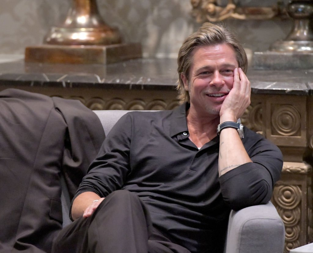 Image Credit: Getty Images/Getty Images for Breitling/Charley Gallay | Brad Pitt participates in the roundtable discussion during the Breitling Summit