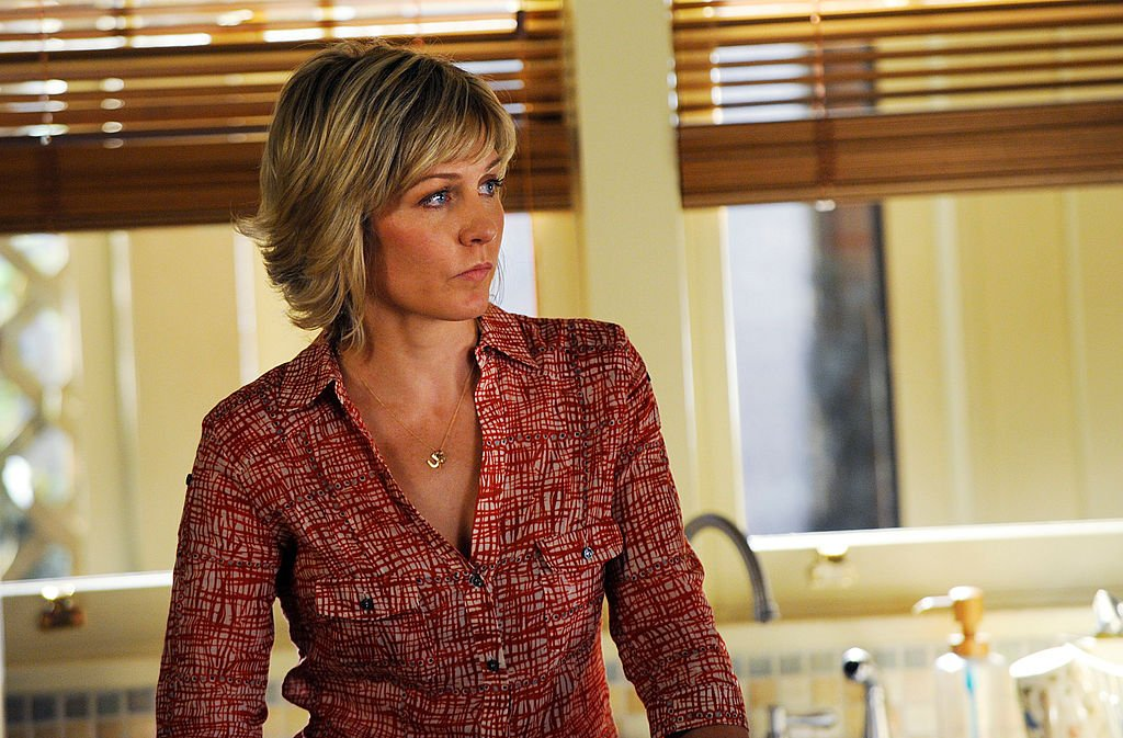 Image Credit: Getty Images / Actress Amy Carlson on set for the series, Blue Bloods.