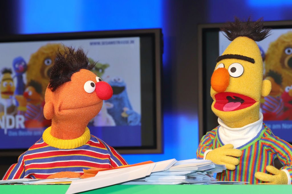 Image Credit: Getty Images / Sesame Street characters Bert and Ernie during a presentation on March 2, 2020 in Hamburg.