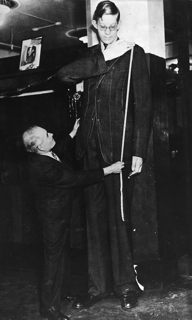 Robert Wadlow at 8 feet 11 inches, 1939. Image Credit: Getty Images