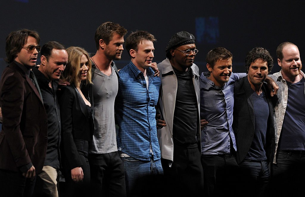 Image Source: Getty Images/Kevin Winter | Gregg with the cast of The Avengers at Comic Con 20122