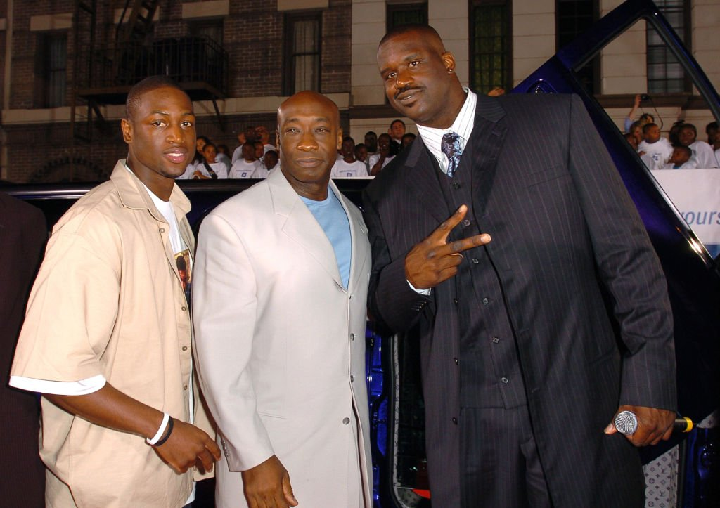 Image Credit: Getty Images / Dwyane Wade, Michael Clarke Duncan and Shaquille O'Neal at the 2nd Annual Rollin'24 Deep: GM All-Car Showdown - Red Carpet.