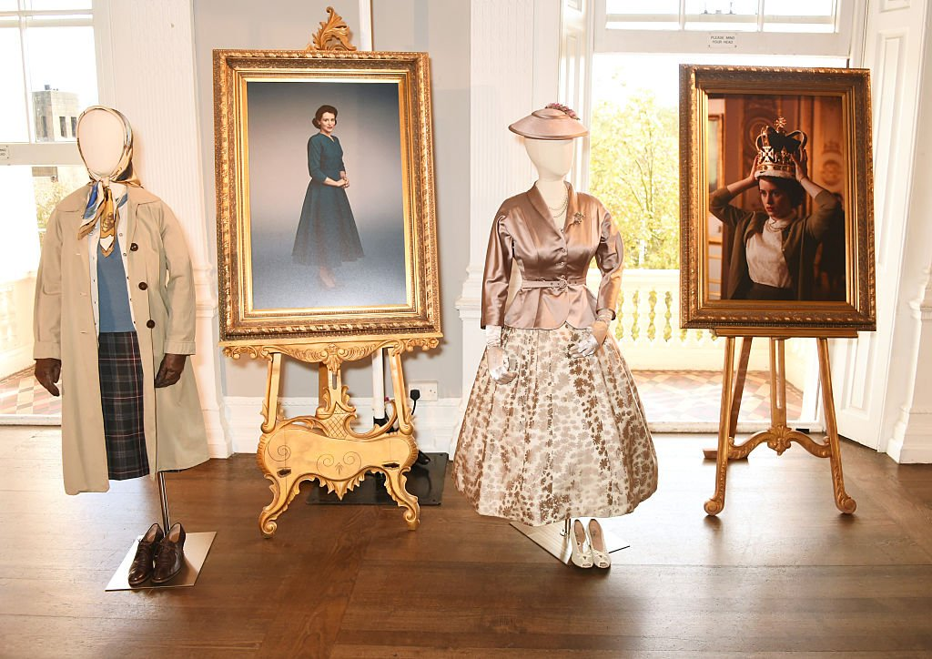 "Image Credits: Getty Images / David M. Benett / Dave Benett | A general view of the atmosphere at a presentation featuring costumes from new Netflix Original series ""The Crown"" with designer Michele Clapton at the ICA on October 17, 2016 in London, England."