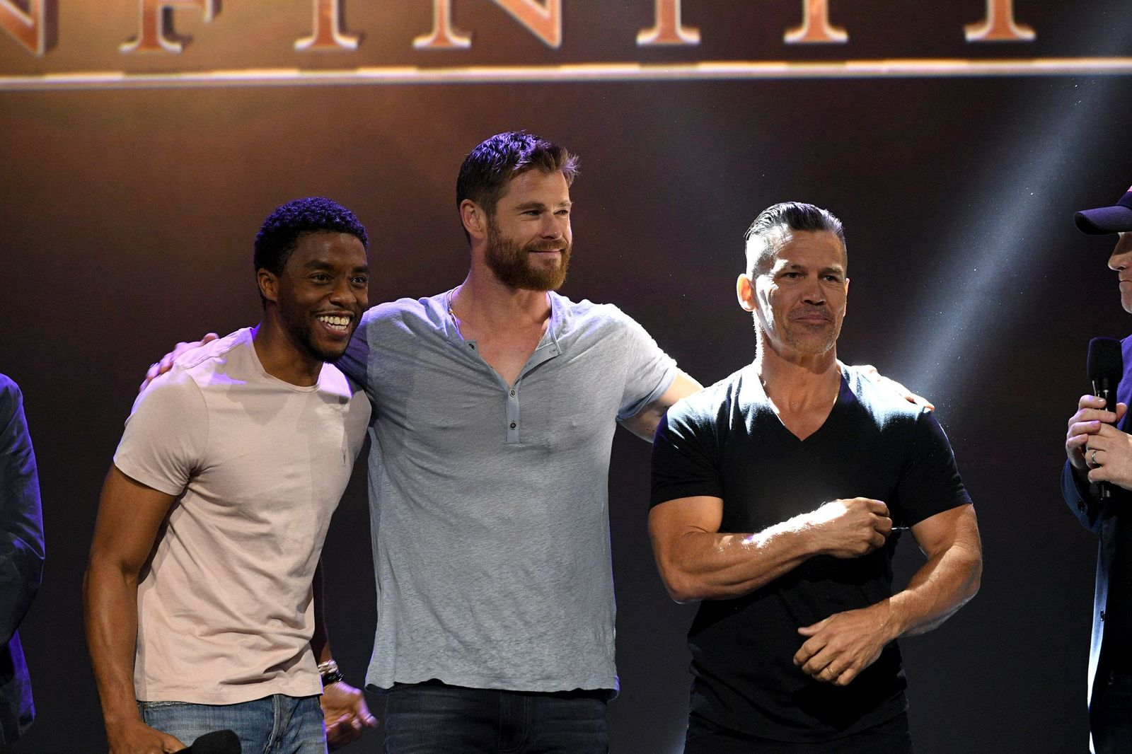 Chadwick Boseman and Chris Hemsworth/Photo:Getty Images