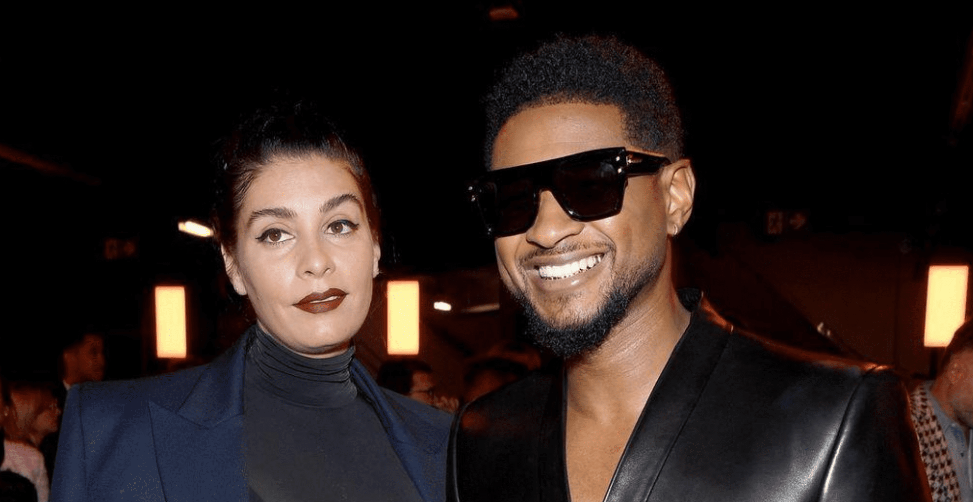 Jenn Goicoechea and Usher attend the Balmain show as part of the Paris Fashion Week Womenswear Fall/Winter 2020/2021 on February 28, 2020 in Paris, France. (Photo by Pascal Le Segretain/Getty Images)