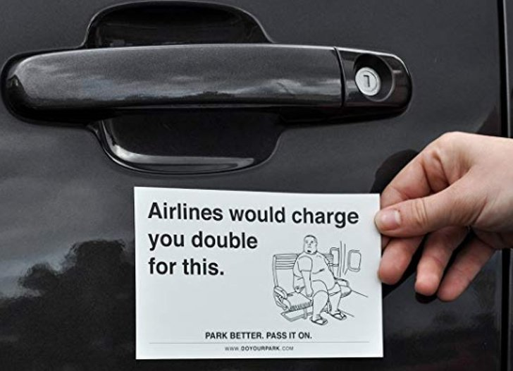 Funny & Creative Windscreen Notes From Angry Drivers