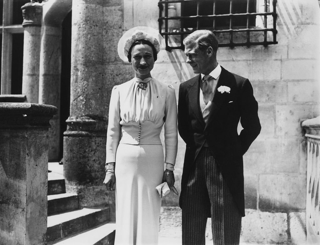 Image Source: Getty Images/Central Press/The Duke of Winsdor (1894 - 1972) marries Wallis Warfield Simpson (1896 - 1986) at the Chateau de Conde, France