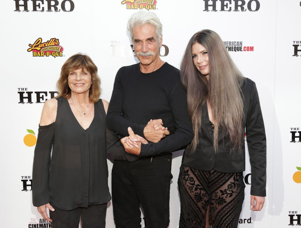 "Image Source: Getty Images/Jerritt Clark | Katharine Ross, Sam Elliott and daughter Cleo Elliot attend the Premiere Of The Orchard's ""The Hero"""