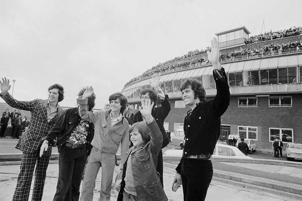 Image Credit: Getty Images / American pop group the Osmonds arrive at London Airport, 29th October 1972.