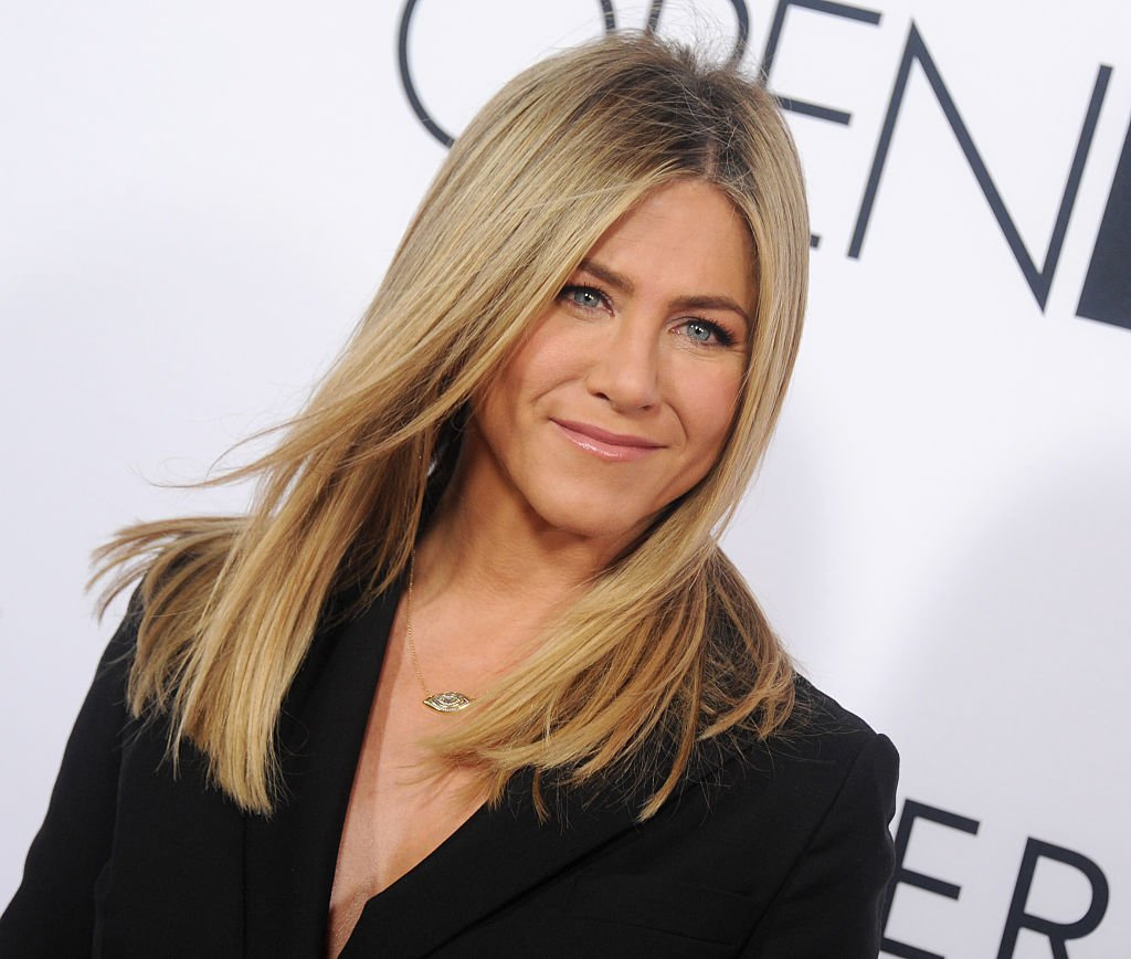 "Image Source: Getty Images/WireImage/Gregg DeGuire | Aniston at the Open Roads World Premiere Of ""Mother's Day"""