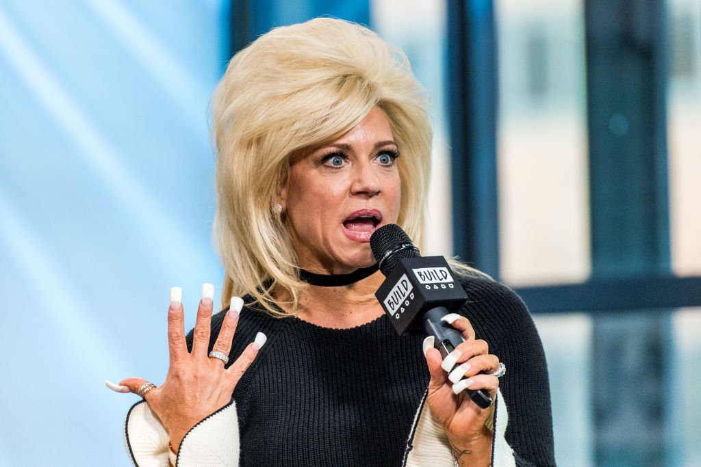 Image Source: Getty Images/FilmMagic/Roy Rochlin | Theresa Caputo at AOL's Build Series