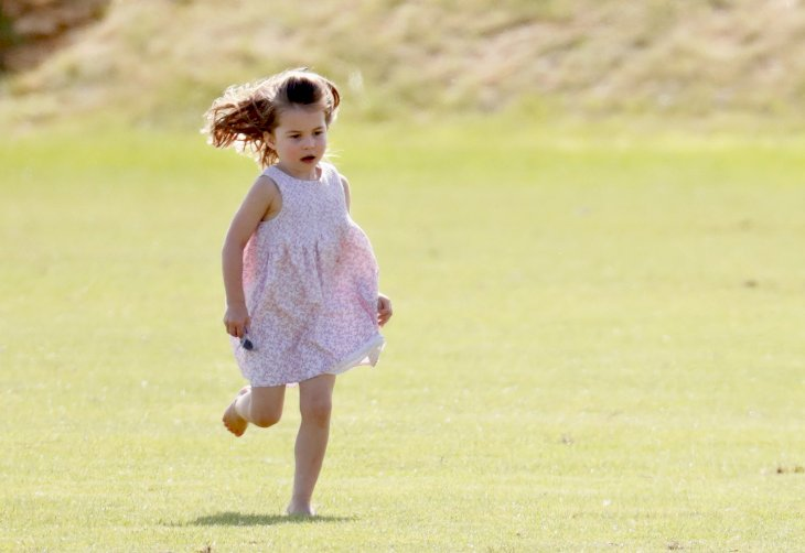 Image Credit: Getty Images / Princess Charlotte playing outside.
