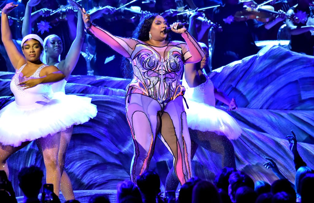 Image Credit: Getty Images / Lizzo Preforms onstage during the 62nd Annual GRAMMY Awards at Staples Center on January 26, 2020.