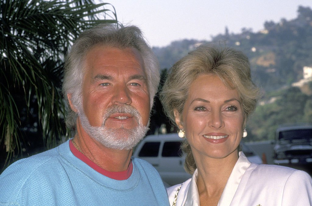 Image Credit: Getty Images / Musician Kenny Rogers and wife Marianne Gordon attend the NBC Fall TCA Press Tour on July 29, 1991.