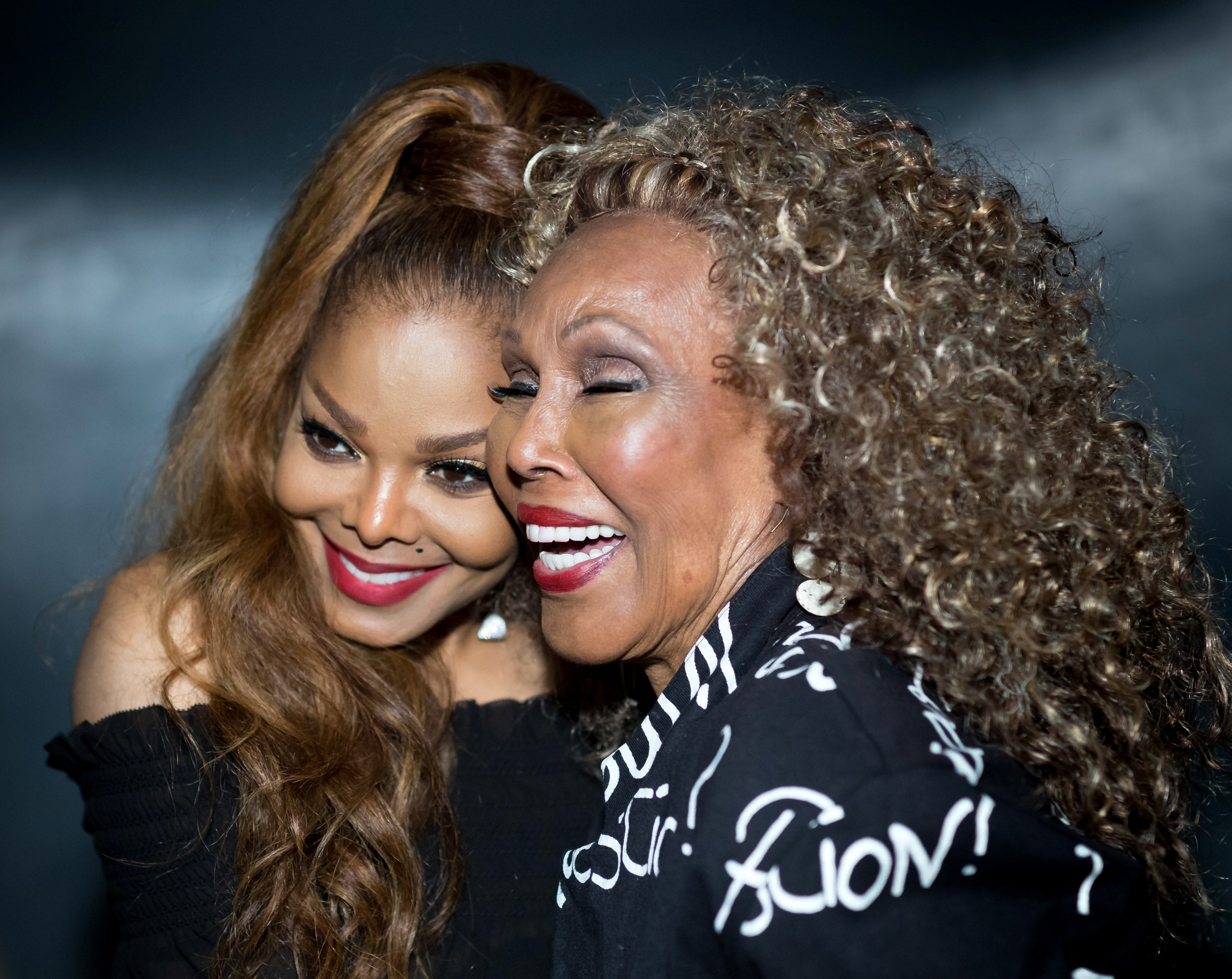 Image Credits: Getty Images / Greg Doherty | Singer-songwriter Janet Jackson meets Singer-songwriter and Actress Ja'net Dubois at the Janet Jackson's State Of The World Tour After Party at Lure on October 8, 2017 in Los Angeles, California.