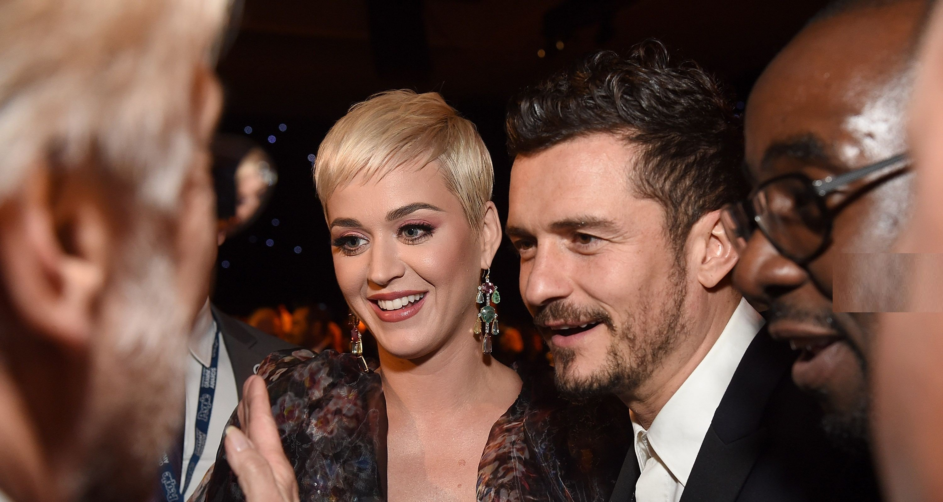 Katy Perry and Orlando Bloom attend MusiCares Person of the Year honoring Dolly Parton / Getty Images