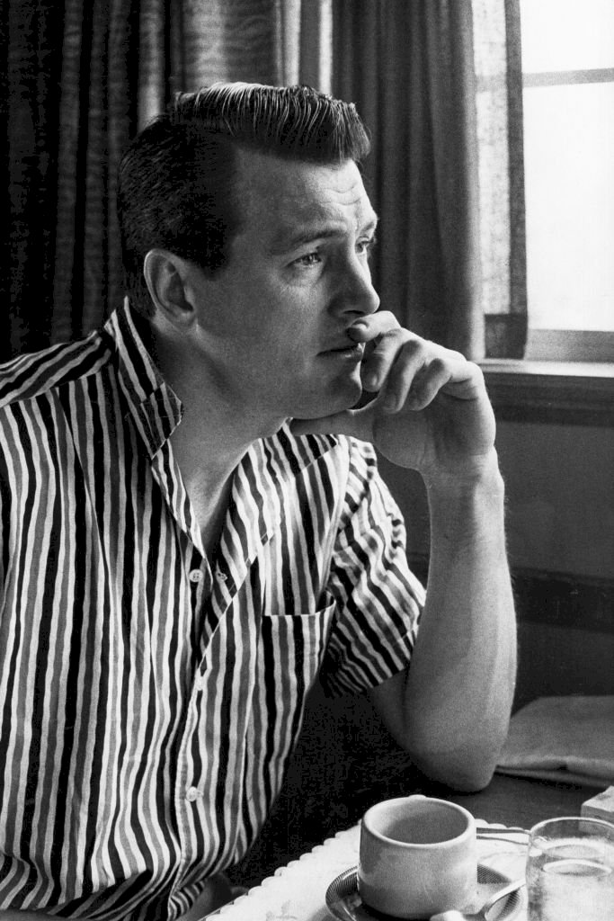 Image Credit: Getty Images/Donaldson Collection/Richard C. Miller |Rock Hudson at home in 1958.