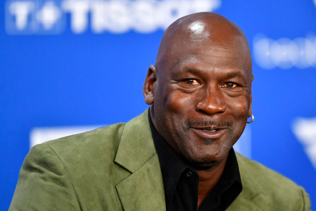 Image Credit: Getty Images / Michael Jordan attends a press conference before the NBA Paris Game match between Charlotte Hornets and Milwaukee Bucks on January 24, 2020.