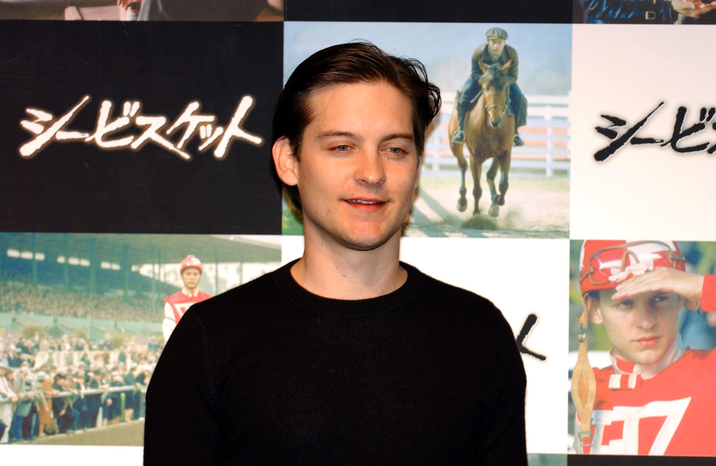 "Tobey Maguire during ""Seabiscuit"" - Press Conference in Tokyo at Park Hyatt Hotel in Tokyo, Japan / Getty Images"