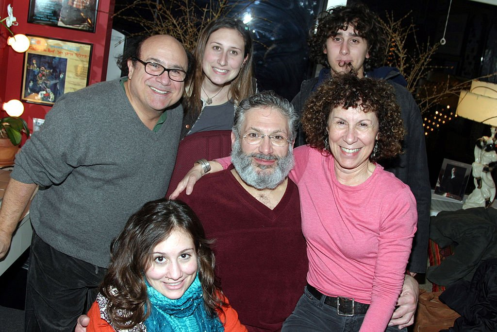 "Image Source: Getty Images/Bruce Glikas/Danny DeVito and Family Visit Harvey Fierstein Backstage at ""Fiddler on the Roof"""