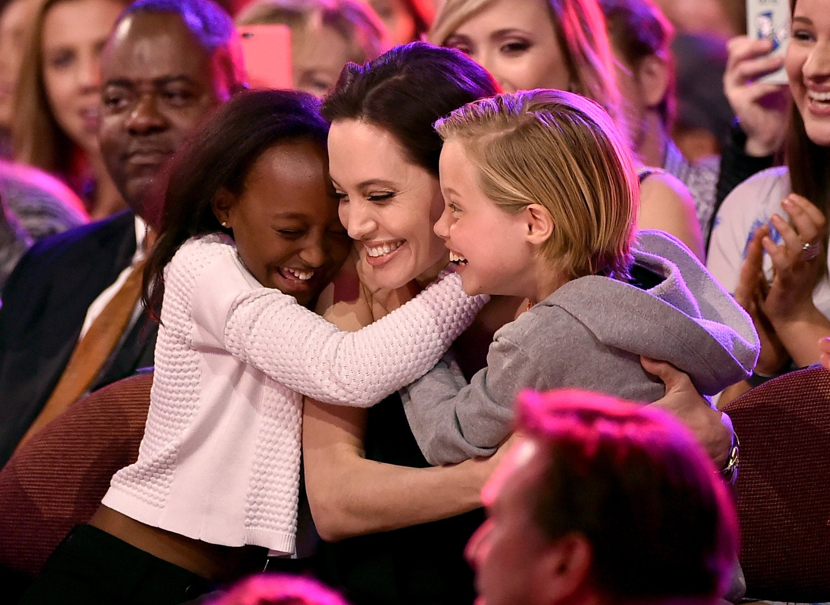 Image Credit: Getty Images/Kevin Winter | Angelina, Shilo and Zahara at the Kids Choice Awards