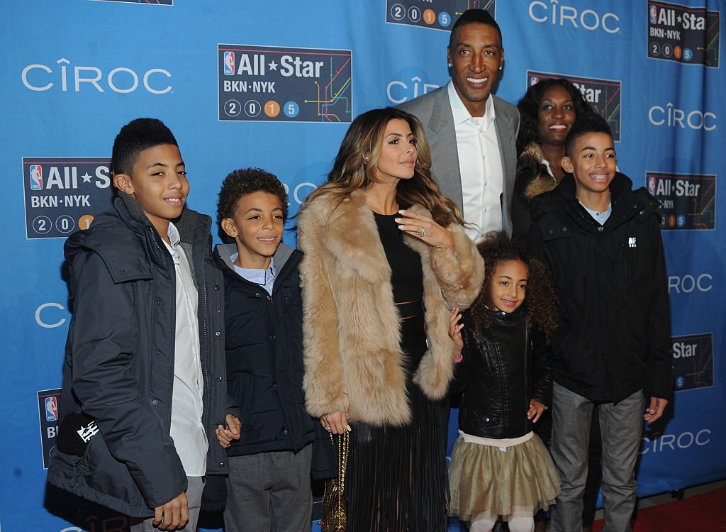 Image Credits: Getty Images / Brad Barket | Larsa Younan and Scottie Pippen with their family attend The 64th NBA All-Star Game 2015 on February 15, 2015 in New York City.