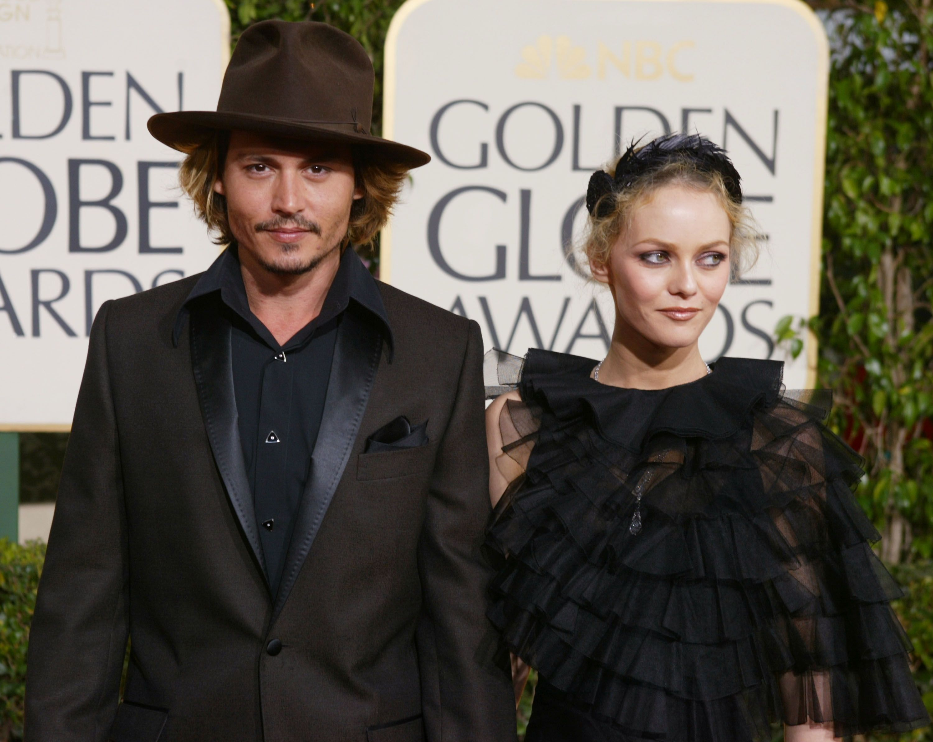 Johnny Depp and the mother of his first child Vanessa Paradis / Getty Images