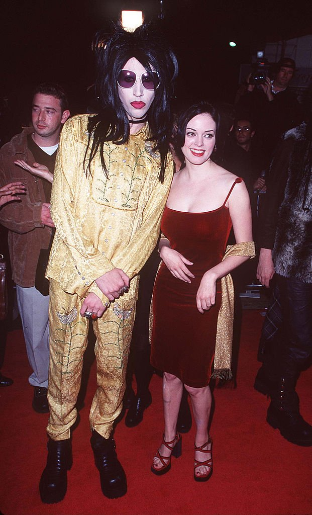 Image Source: Getty Images/Steve Granitz | Marilyn Manson & Rose McGowan