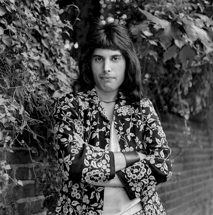Image Credit: Getty Images / Freddie Mercury poses for a picture.