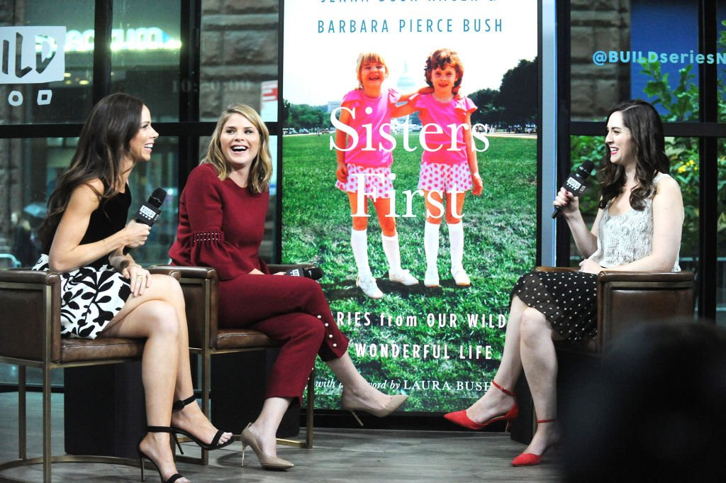 Image Credits: Getty Images / Desiree Navarro | Barbara Pierce Bush (L) and Jenna Bush Hager visit Build to discuss their book 'Sisters First: Stories from Our Wild and Wonderful Life' at Build Studio on October 24, 2017 in New York City.
