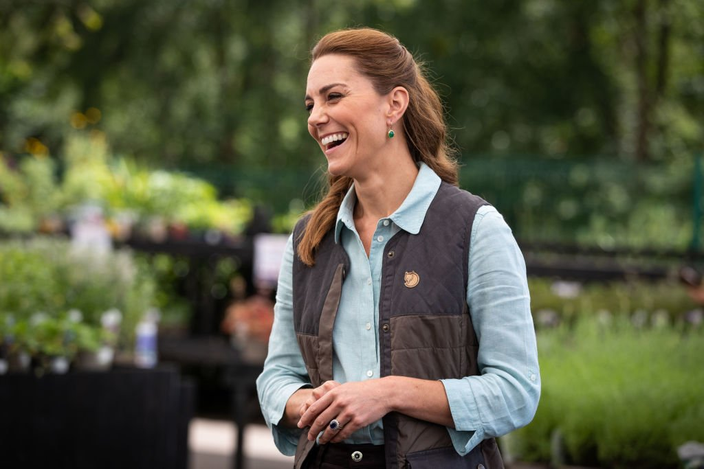 Image Credit: Getty Images / Catherine, Duchess of Cambridge talks at the Fakenham Garden Centre in Norfolk on June 18, 2020.