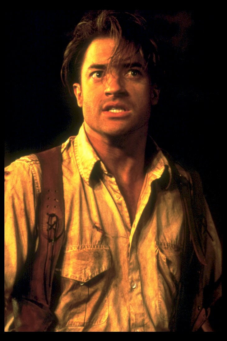 Image Credit: Getty Images / Brendan Fraser on the set of The Mummy.