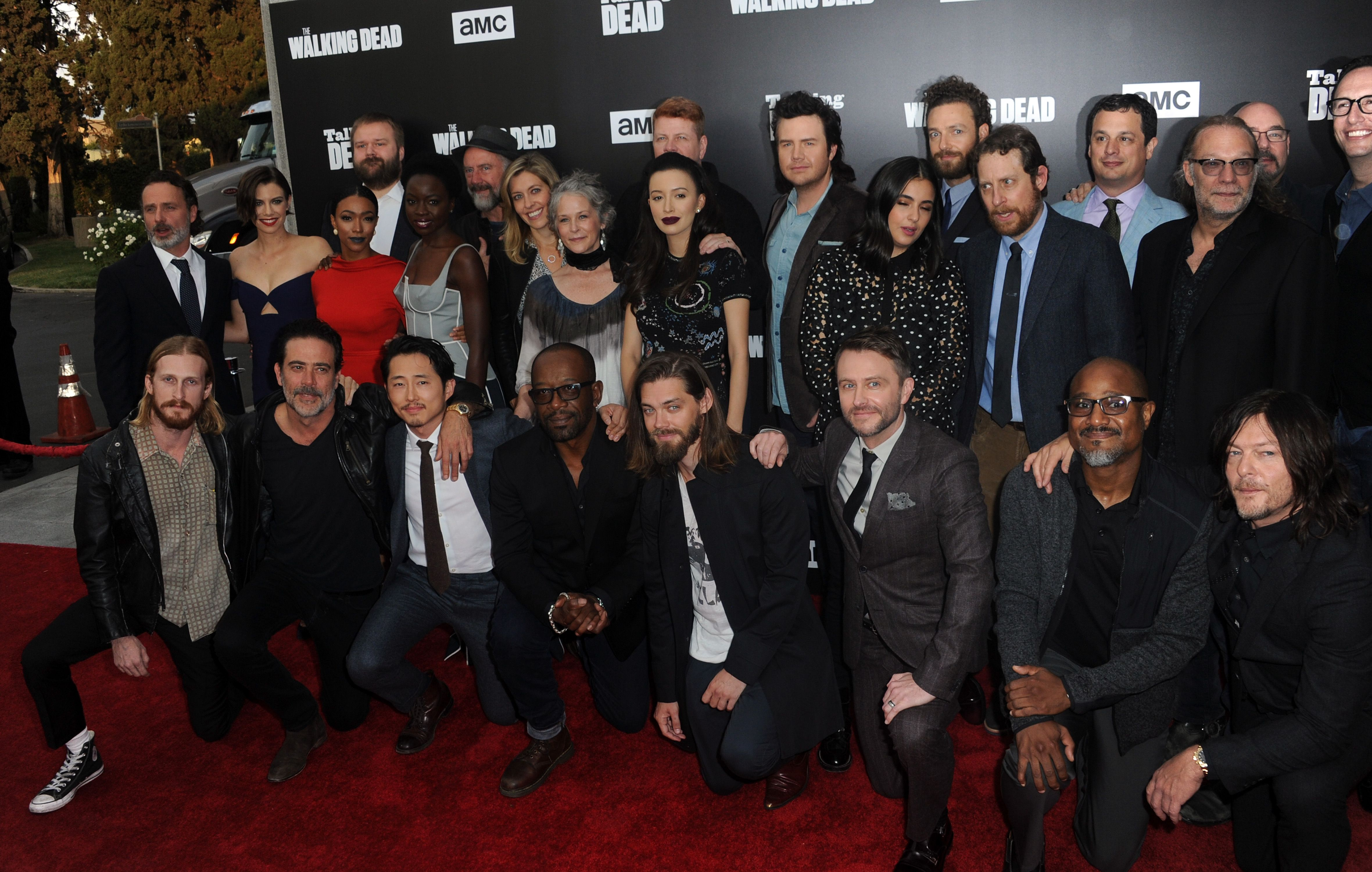 The cast of 'The Walking Dead' at the AMC Presents Live / Getty images
