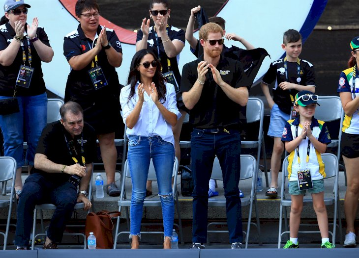 Image Credit: Getty Images / Meghan Markle with her husband, Prince Harry, at the 2007 Invictus Games.