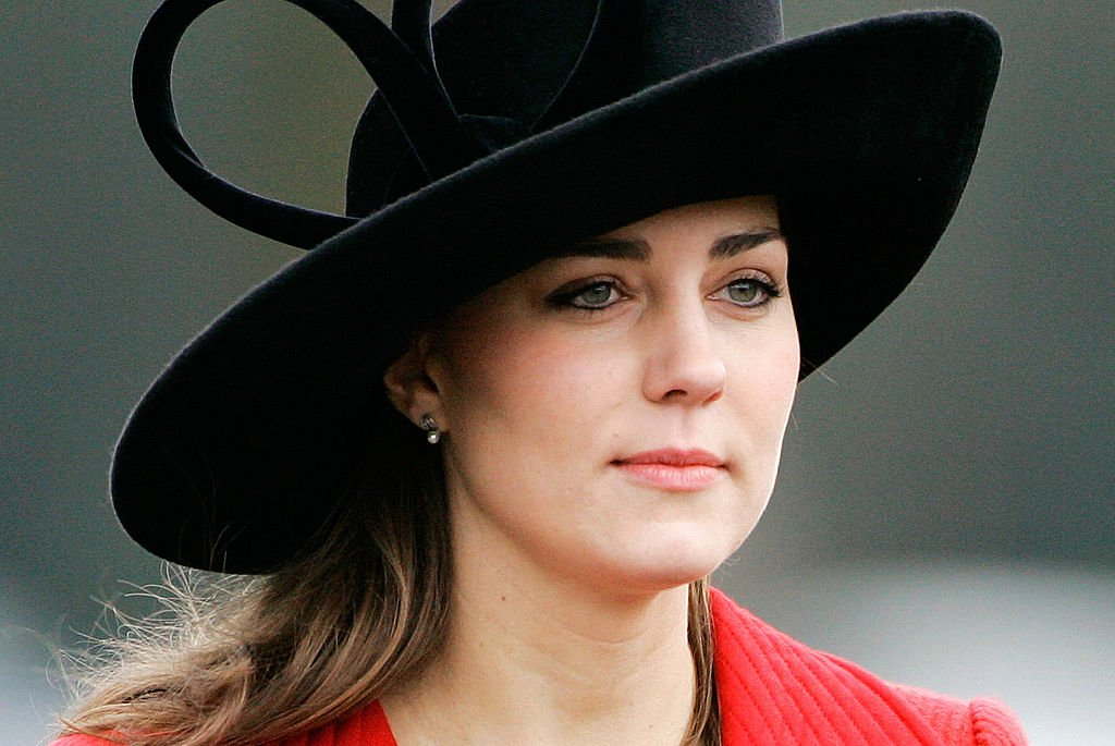 Image Credit: Getty Images / Kate Middleton, Prince William's girlfriend, at the Sovereign's Parade at Sandhurst Military Academy to watch the passing-out parade on December 15, 2006 in Surrey, England.