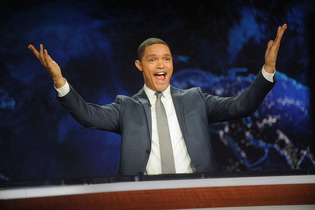 "Image Credits: Getty Images / Brad Barket | Trevor Noah hosts Comedy Central's ""The Daily Show with Trevor Noah"" premiere on September 28, 2015 in New York City."