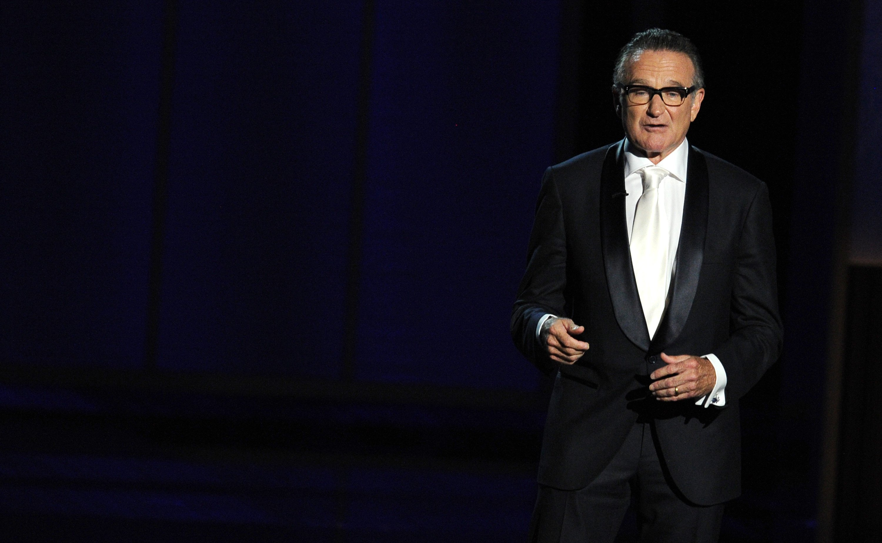 Image Credits: Getty Images / Kevin Winter | Presenter Robin Williams speaks onstage during the 65th Annual Primetime Emmy Awards held at Nokia Theatre L.A. Live on September 22, 2013 in Los Angeles, California.