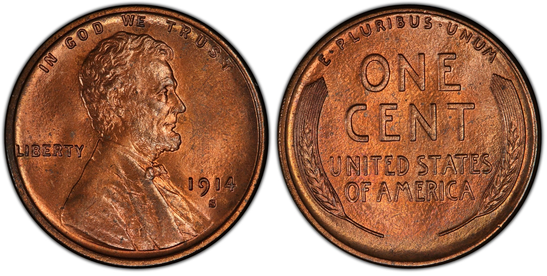 1914 P LINCOLN WHEAT CENT Penny Decent Condition Low Grade