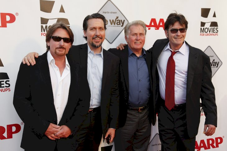 Image Credit: Getty Images / Ramon Estevez with his father, Martin Sheen, and brothers, Emilio Estevez and Charlie Sheen.