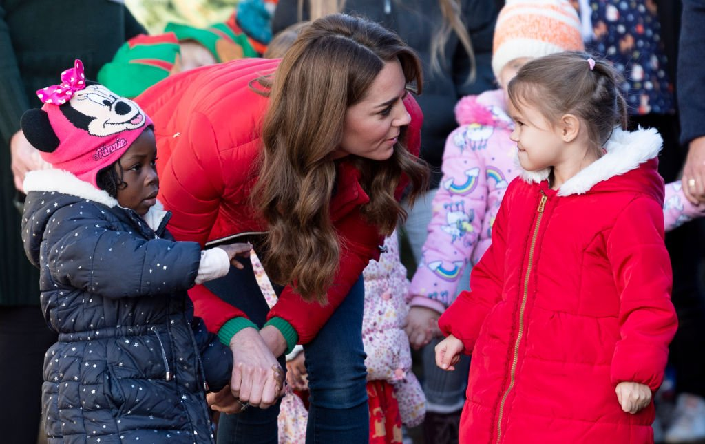 Image Credit: Getty Images / Catherine, Duchess of Cambridge joins families and children who are supported by the charity Family Action at Peterley Manor Farm on December 4, 2019 in Great Missenden, England.