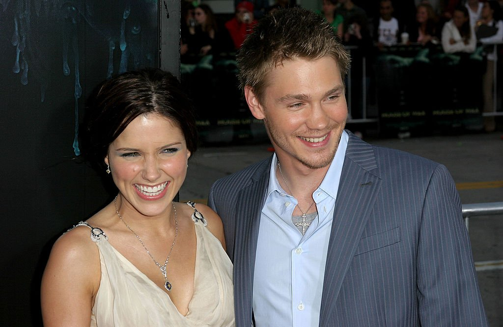 """Image Credit: Getty Images / Actor Chad Michael Murray (R) and his wife actress Sophia Bush arrive at Warner Bros. Premiere Of """"House Of Wax"""" Westwood, California in 2005."""