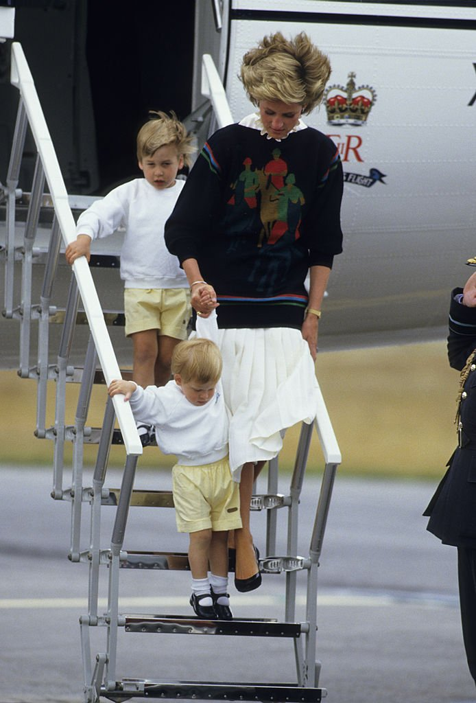 Image Credits: Getty Images | Princess Diana arrives in Scotland with sons William and Harry