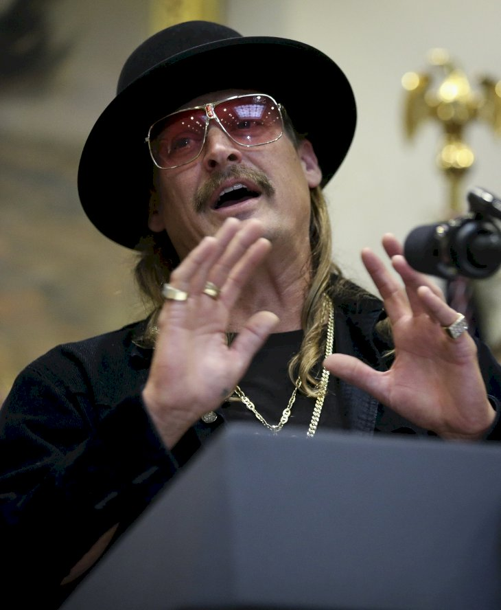 Image Credit: Getty Images/Oliver Contreras - Pool  Kid Rock attends a signing ceremony as U.S. President Donald Trump signs the H.R. 1551