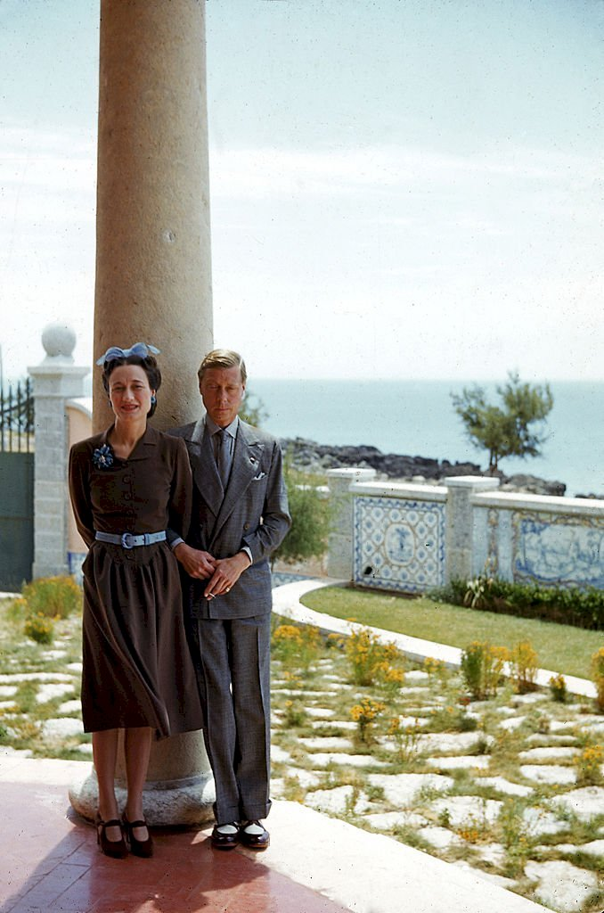 Image Credits: Getty Images / Thomas D. McAvoy / The LIFE Picture Collection | Portrait of the Duchess (1896 - 1986) and Duke (1894 - 1972) of Windsor on the veranda of their home in Lisbon, Portugal, July or August 1940.